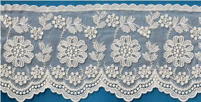 Vendita Pizzi E Merletti.11798 Tull Embroidery Vendita Pizzi E Merletti On Line